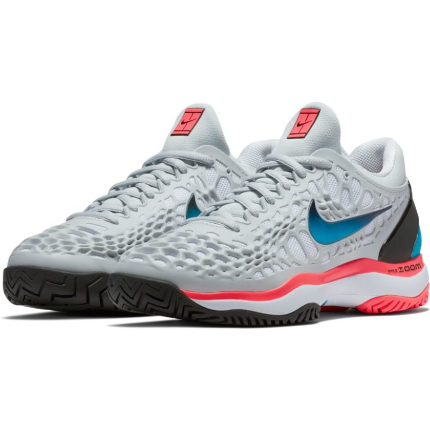 b0816304b97d Nike Air Zoom Cage 3 Platinum Blue Nebula Women s Tennis Shoe